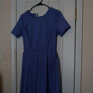 Blue Vintage Handmade A Line Dress